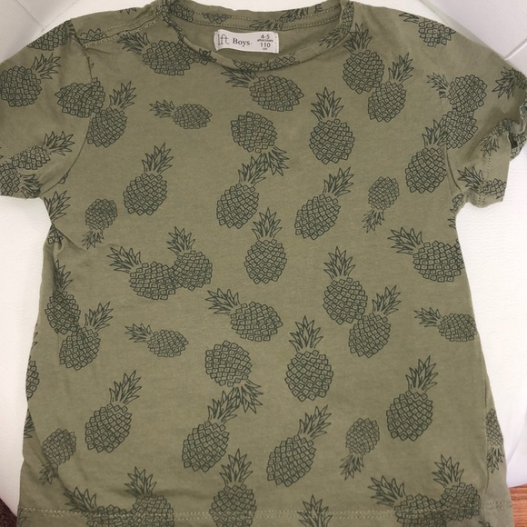 Lft Other - Lft boys army green tee shirt with pineapples 4-5Y